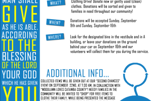 """Second Chances"" Clothing Drive"